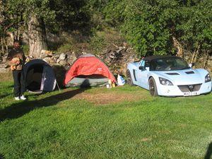 Campeurs sous tente